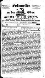 Lokomotive an der Oder (22.02.1862)