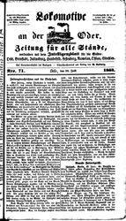 Lokomotive an der Oder (23.06.1863)