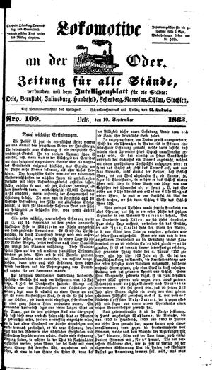 Lokomotive an der Oder on Sep 19, 1863
