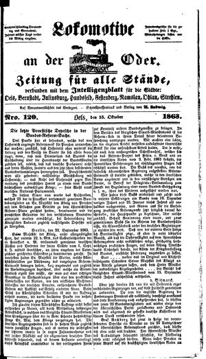 Lokomotive an der Oder vom 15.10.1863