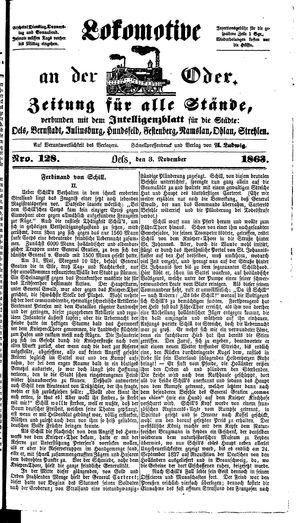 Lokomotive an der Oder on Nov 3, 1863