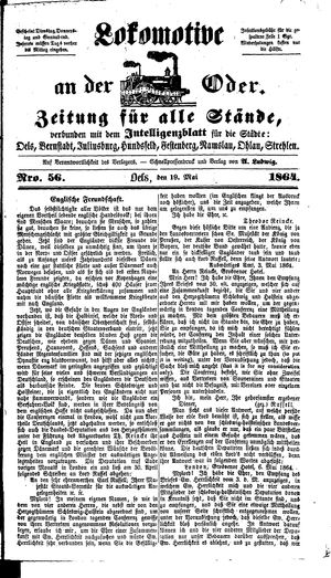 Lokomotive an der Oder on May 19, 1864