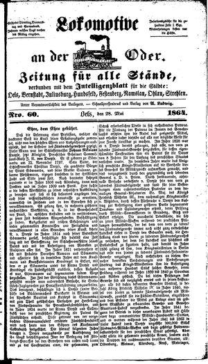 Lokomotive an der Oder vom 28.05.1864