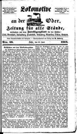 Lokomotive an der Oder on Jun 16, 1864