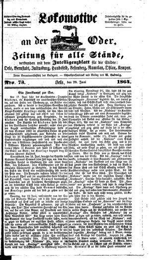 Lokomotive an der Oder on Jun 28, 1864