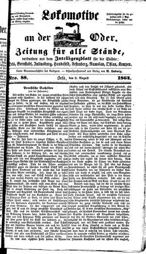Lokomotive an der Oder on Aug 2, 1864