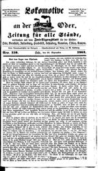 Lokomotive an der Oder (22.09.1864)
