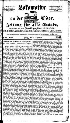 Lokomotive an der Oder on Dec 17, 1864