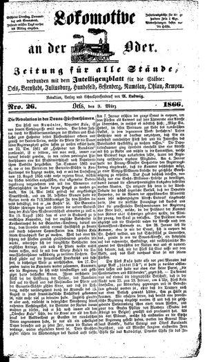 Lokomotive an der Oder vom 03.03.1866