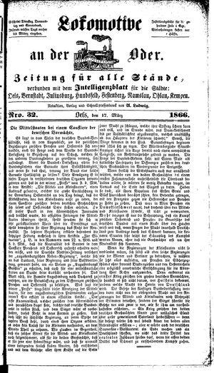 Lokomotive an der Oder on Mar 17, 1866