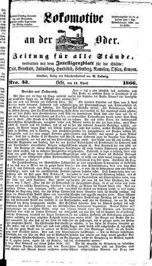 Lokomotive an der Oder vom 14.04.1866