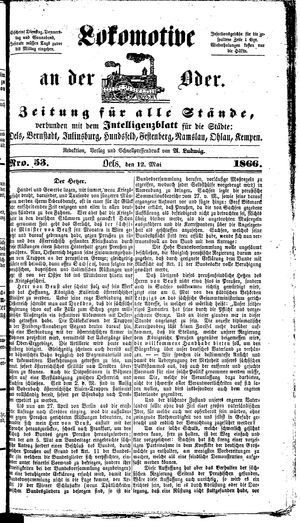 Lokomotive an der Oder on May 12, 1866
