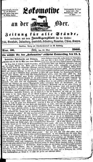 Lokomotive an der Oder vom 19.05.1866