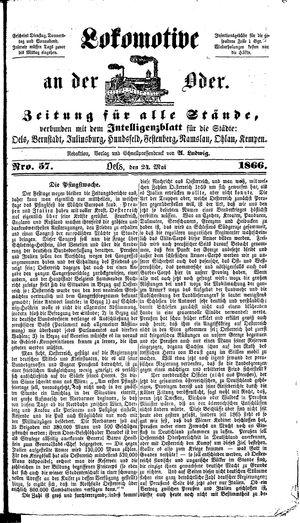 Lokomotive an der Oder on May 24, 1866