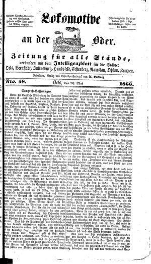 Lokomotive an der Oder vom 26.05.1866