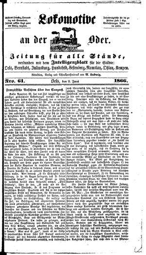 Lokomotive an der Oder on Jun 2, 1866