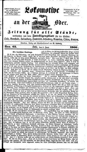 Lokomotive an der Oder on Jun 5, 1866