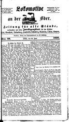 Lokomotive an der Oder (19.06.1866)