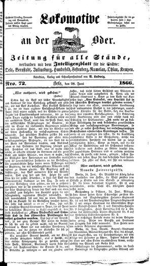Lokomotive an der Oder on Jun 28, 1866