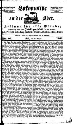 Lokomotive an der Oder vom 23.08.1866