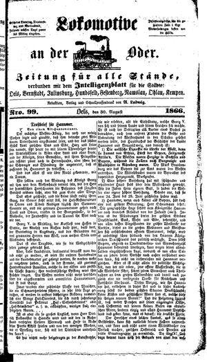 Lokomotive an der Oder on Aug 30, 1866