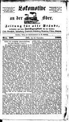 Lokomotive an der Oder (22.09.1866)