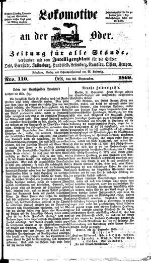 Lokomotive an der Oder vom 25.09.1866