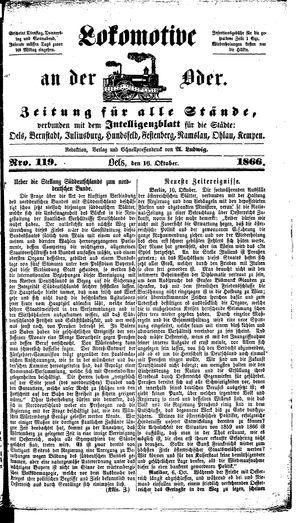 Lokomotive an der Oder vom 16.10.1866