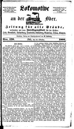 Lokomotive an der Oder vom 18.10.1866