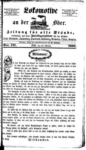 Lokomotive an der Oder vom 20.10.1866