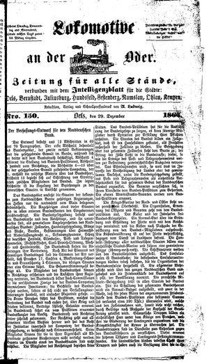 Lokomotive an der Oder vom 29.12.1866