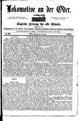 Lokomotive an der Oder (22.02.1871)