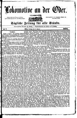 Lokomotive an der Oder vom 11.01.1876