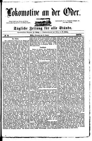 Lokomotive an der Oder vom 12.01.1876