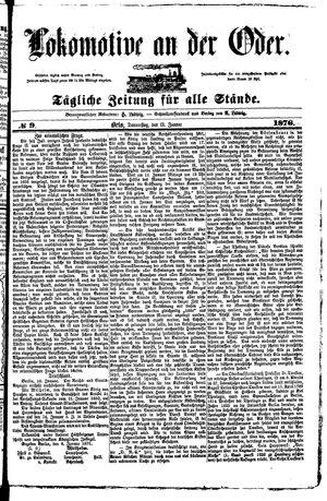 Lokomotive an der Oder vom 13.01.1876