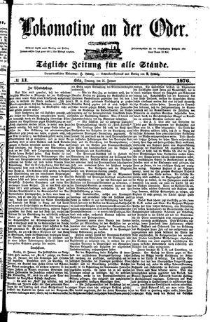 Lokomotive an der Oder vom 16.01.1876