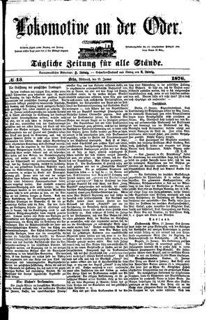 Lokomotive an der Oder vom 19.01.1876