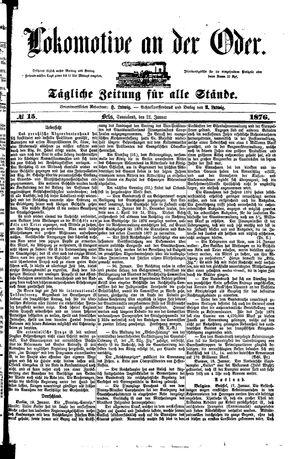 Lokomotive an der Oder vom 22.01.1876