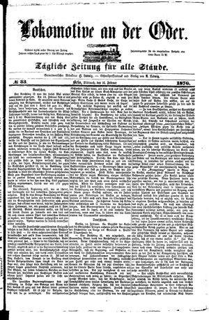 Lokomotive an der Oder vom 16.02.1876