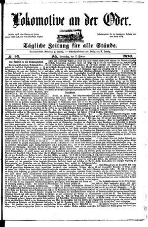 Lokomotive an der Oder vom 17.02.1876