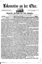 Lokomotive an der Oder (22.02.1876)