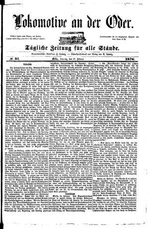 Lokomotive an der Oder vom 27.02.1876