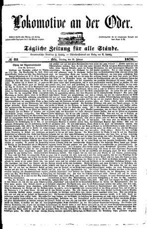 Lokomotive an der Oder vom 29.02.1876