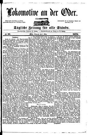 Lokomotive an der Oder vom 01.03.1876
