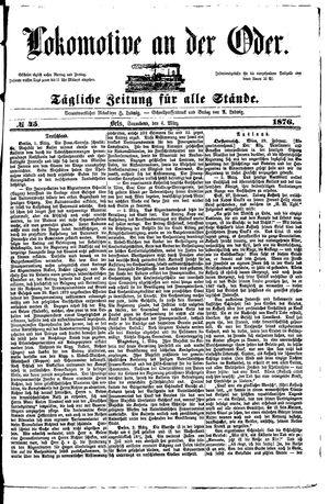 Lokomotive an der Oder on Mar 4, 1876