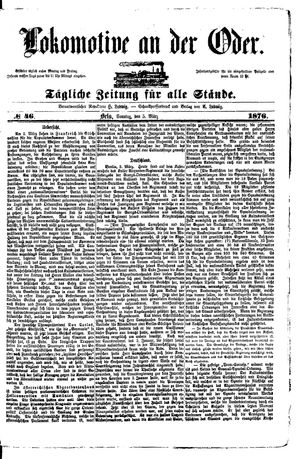 Lokomotive an der Oder vom 05.03.1876