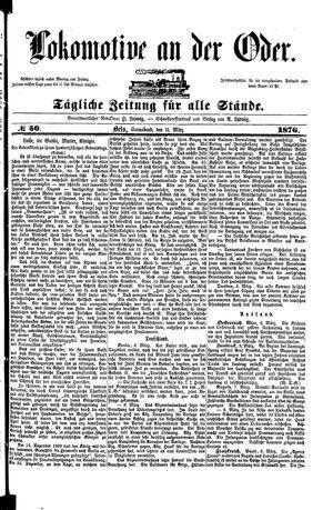 Lokomotive an der Oder vom 11.03.1876