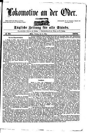 Lokomotive an der Oder vom 14.03.1876