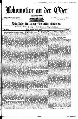 Lokomotive an der Oder on Mar 15, 1876