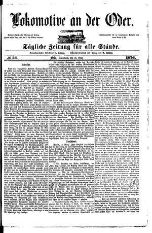 Lokomotive an der Oder vom 18.03.1876